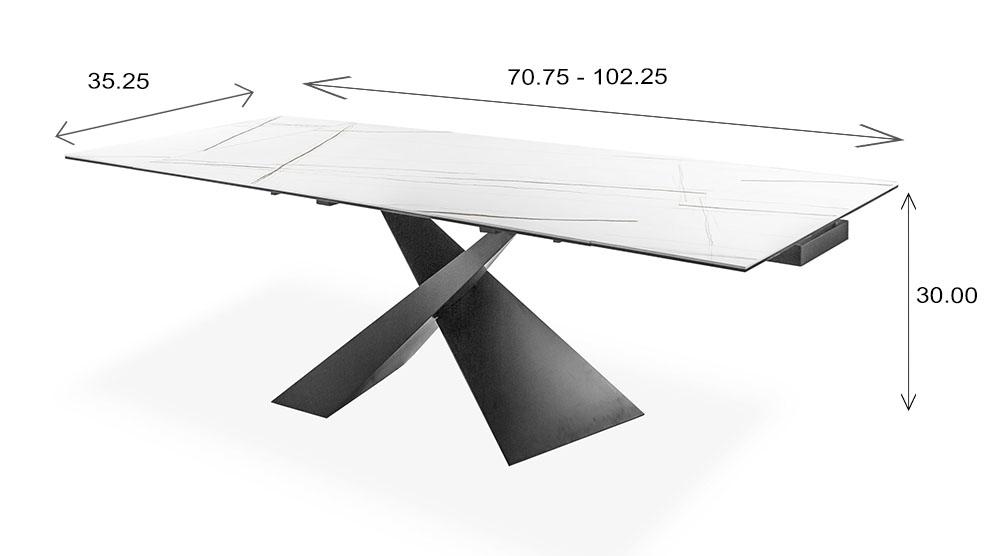 Bowen Table Dimensions