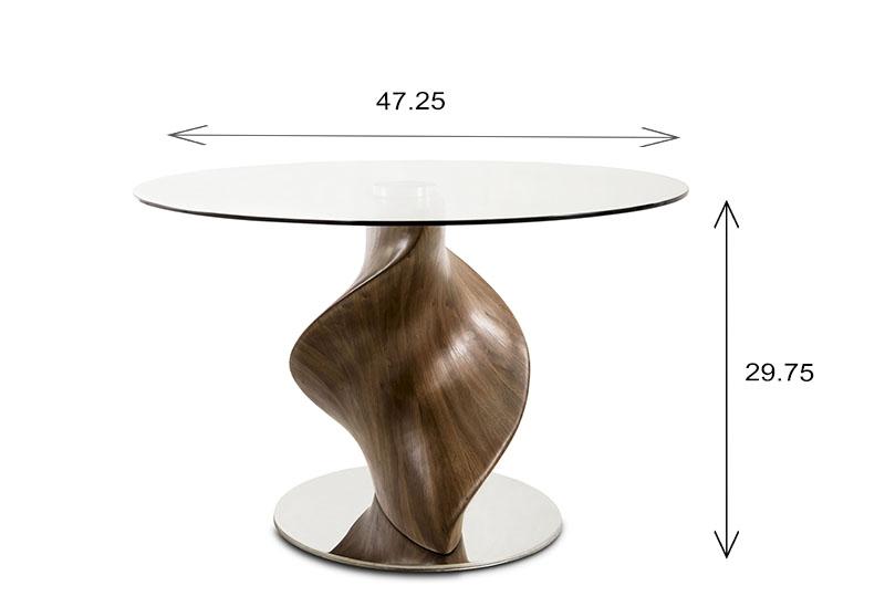 Darwin Table Dimensions
