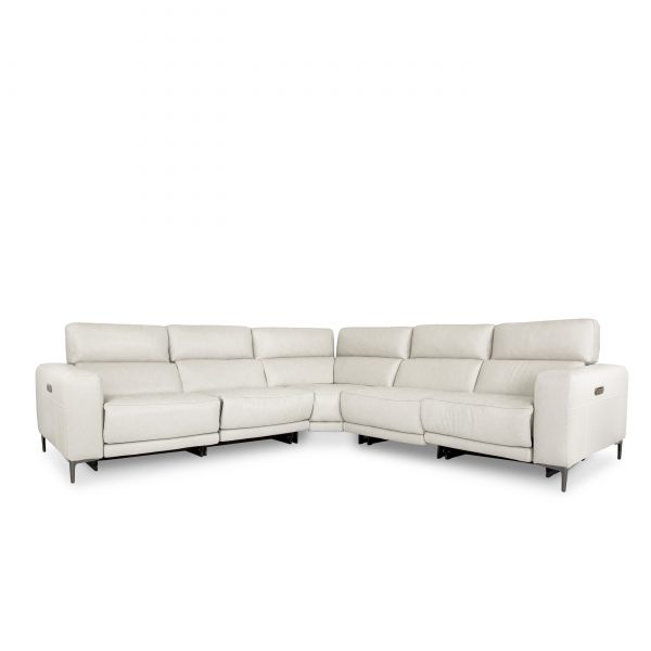 Fredrick Sectional in Frost, Angle