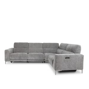 Phillip Sectional in Sky Charcoal, Front