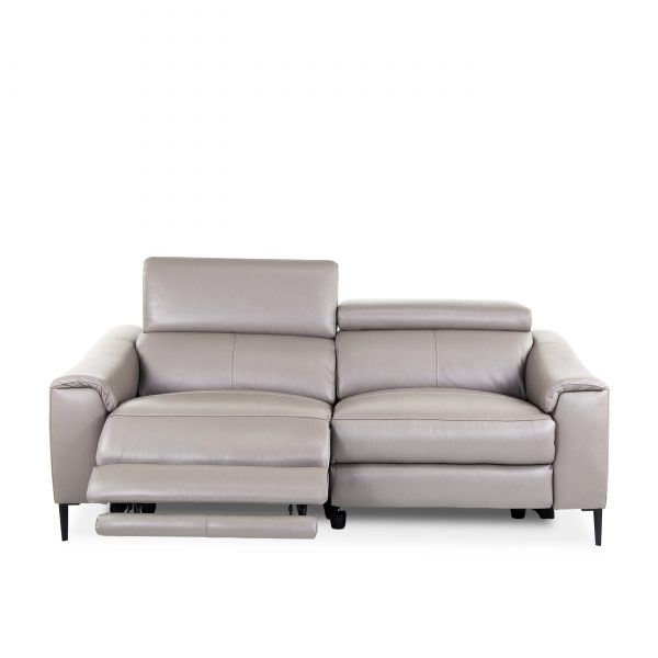 Barclay Sofa in Grey M8, Front, Recline