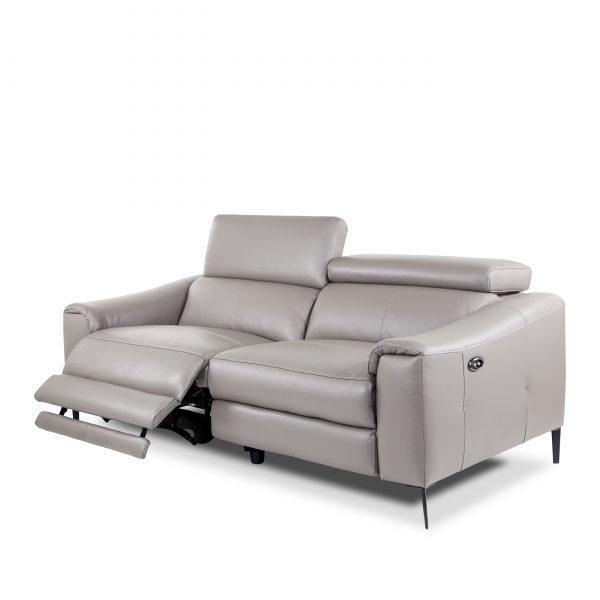 Barclay Sofa in Grey M8, Angle, Recline
