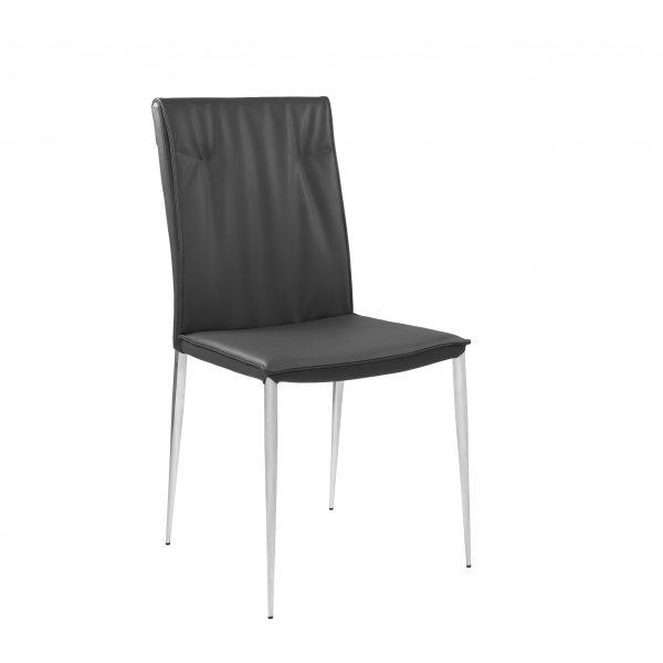 Harp Dining Chair in Grey, Angle