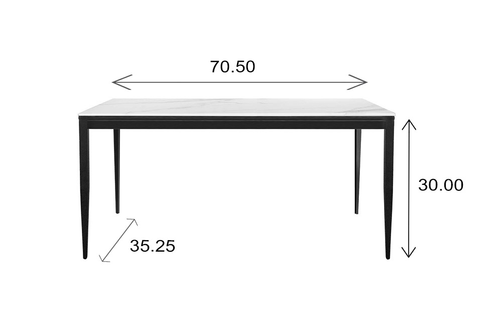 Mary Dining Table Dimensions
