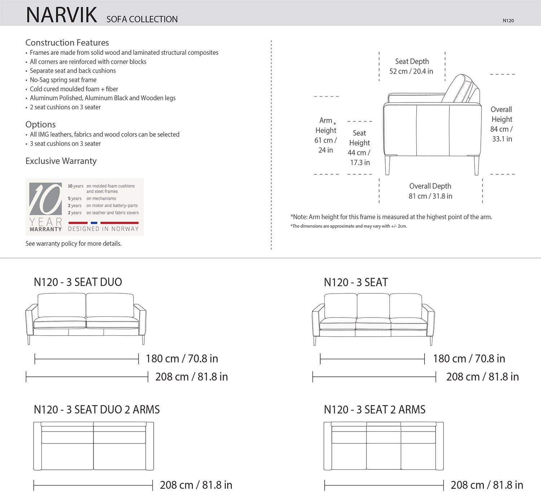 IMG Narvik Sofa Dimensions