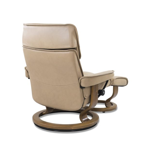 Stressless Admiral in Paloma Sand with Teak Base, Back