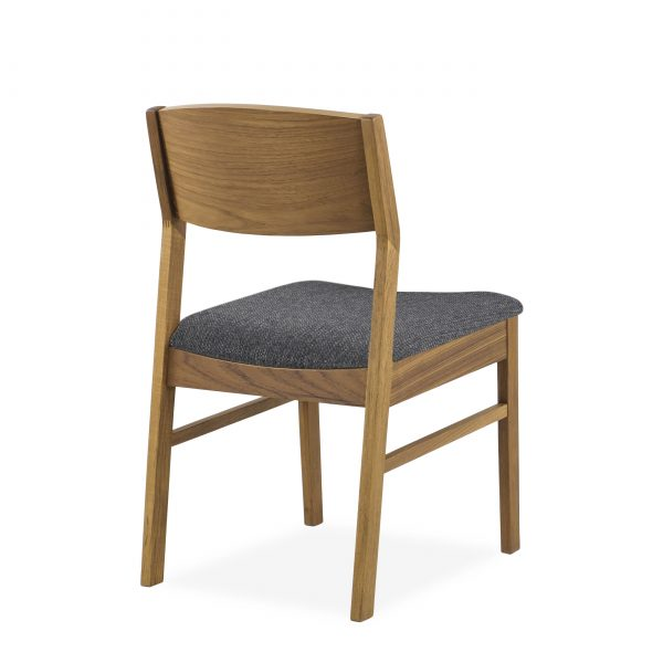 1012 Dining Chair in Charcoal, Teak, Back