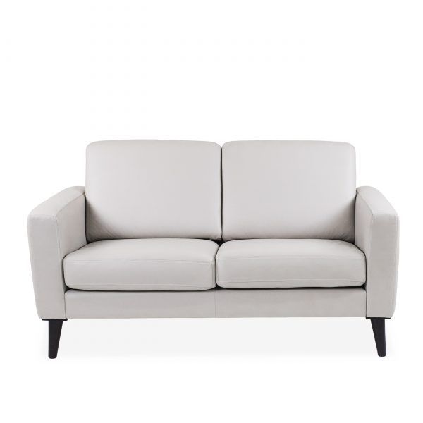 Narvik Loveseat with 2 Cushions in Cinder, Front