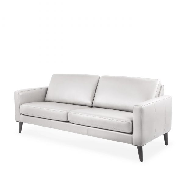 Narvik Sofa with 2 Cushions in Cinder, Angle