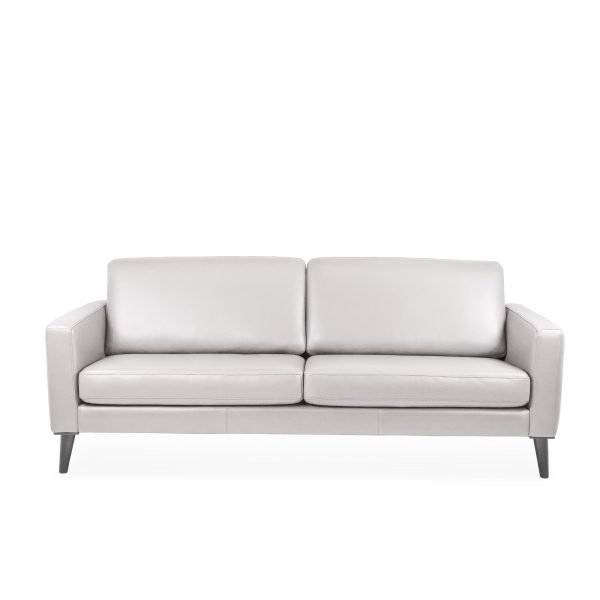 Narvik Sofa with 2 Cushions in Cinder, Front