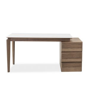 Ivy Desk in Walnut, Front