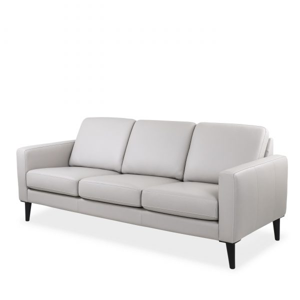 Narvik Sofa with 3 Cushions in Cinder, Angle