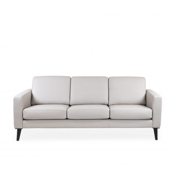 Narvik Sofa with 3 Cushions in Cinder, Front