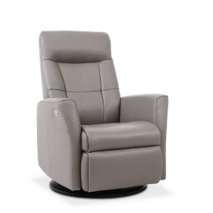 Mega Recliner in Stone Leather, Angle