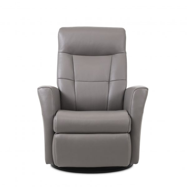 Mega Recliner in Stone Leather, Front
