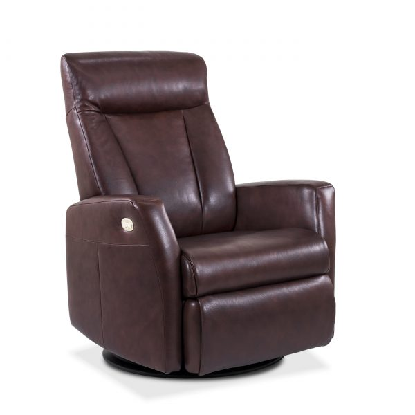 Oslo Recliner in Rosewood, Angle