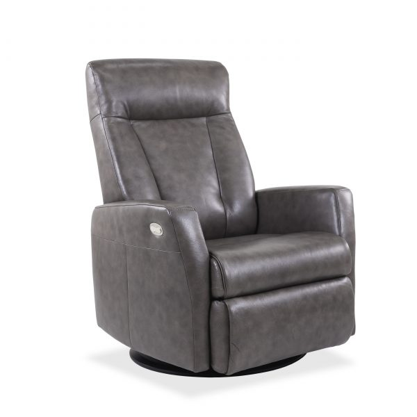 Oslo Recliner in Taupe, Angle