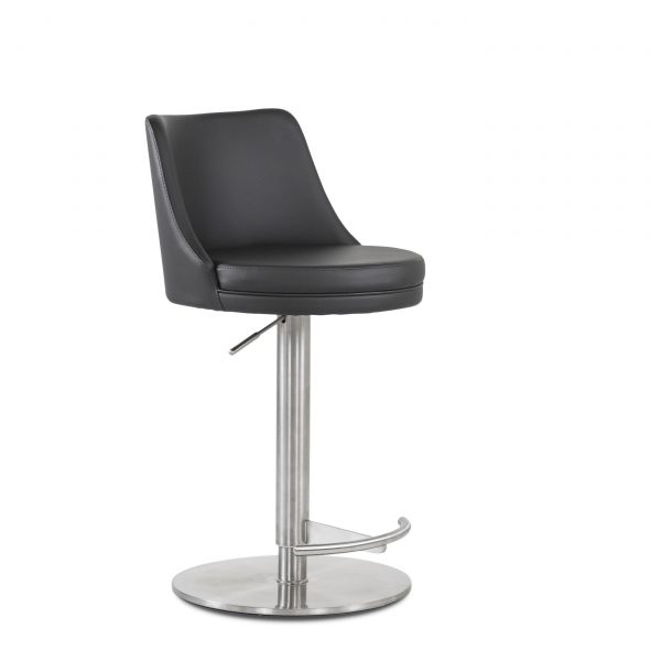 Chris Counter Stool in Black, Angle