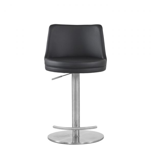 Chris Counter Stool in Black, Front