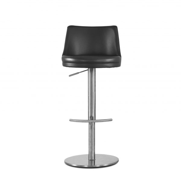 Chris Counter Stool in Black, Front Lifted
