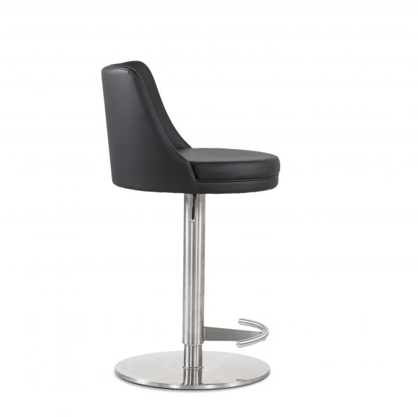 Chris Counter Stool in Black, Side