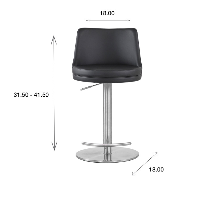 Adele Bar Stool with Dimensions