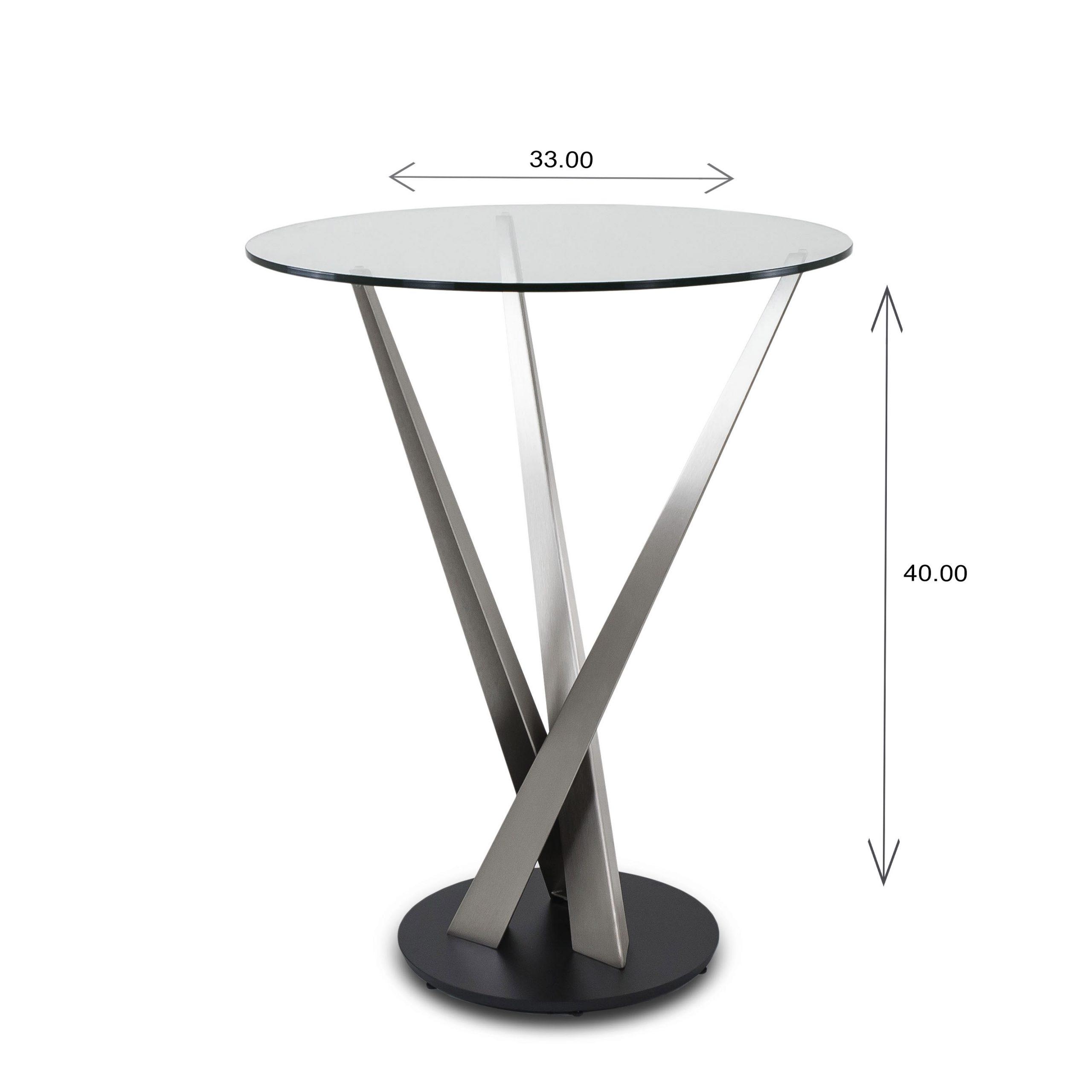 Crystal Bar Table - Dimensions