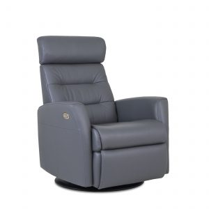 Dovre Recliner in Iron, Angle