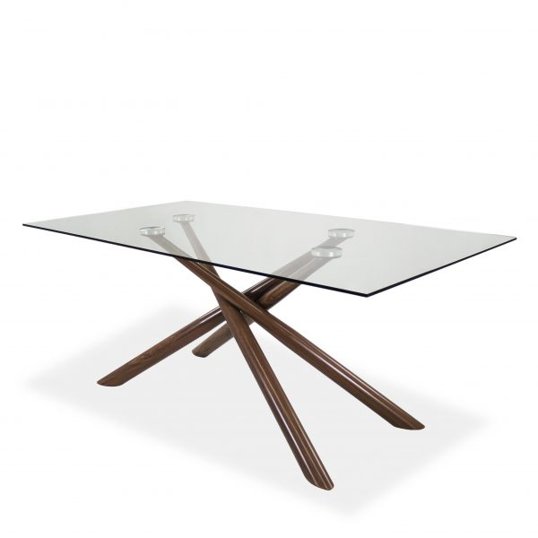 Juno Dining Table in Walnut, Angle