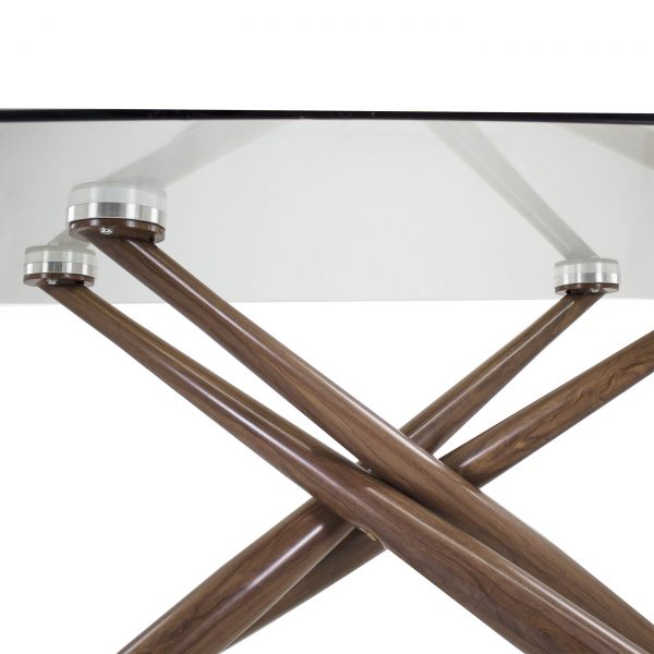 Juno Dining Table in Walnut, Close Up