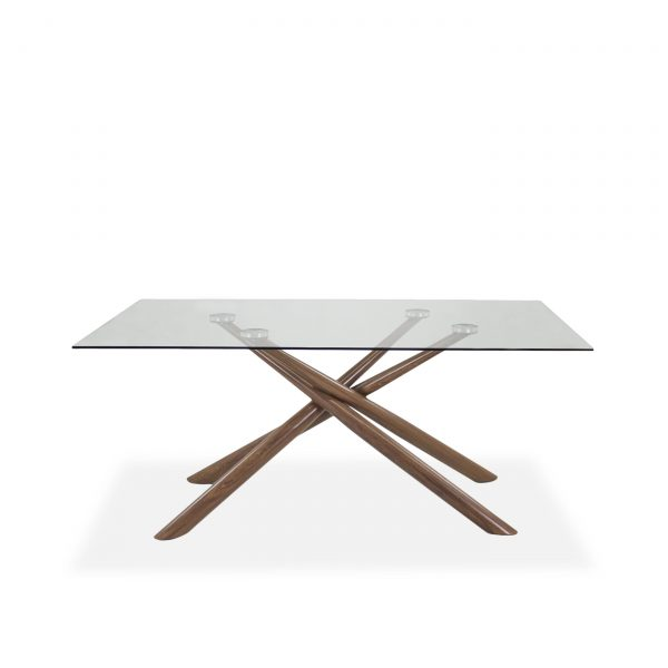 Juno Dining Table in Walnut, Front, 2