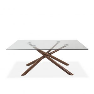 Juno Dining Table in Walnut, Front