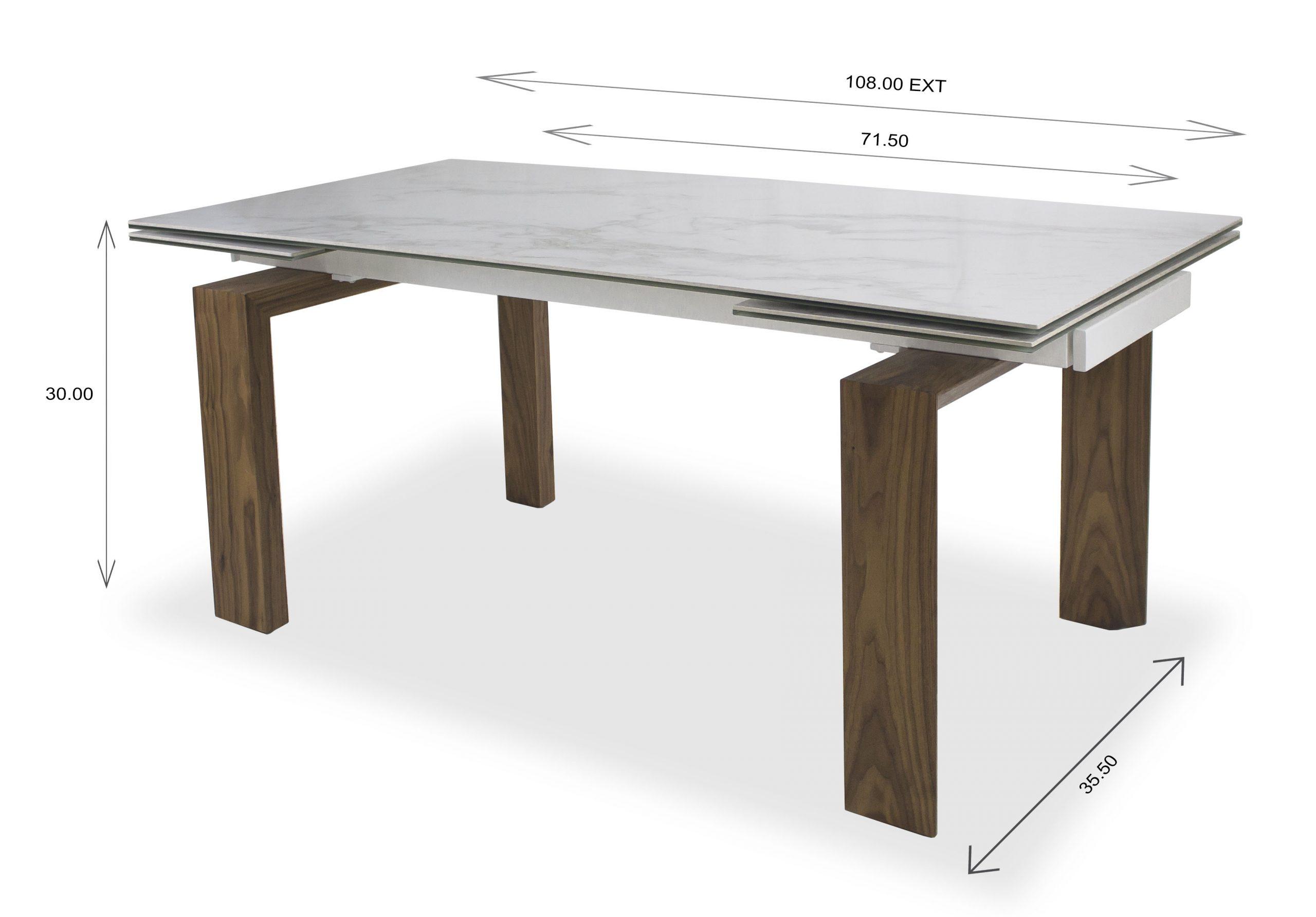 Potrero Dining Table Dimension
