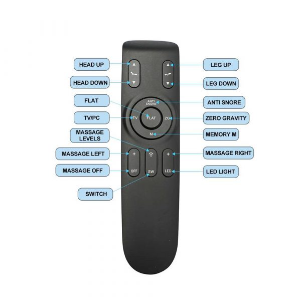 Restwell Silhouette Adjustable Base, Remote