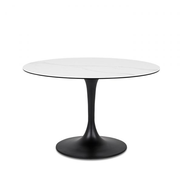 Astro Dining Table in White, Front