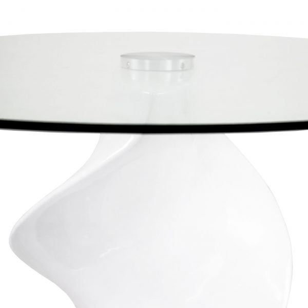 Darwin Dining Table in White, Close Up