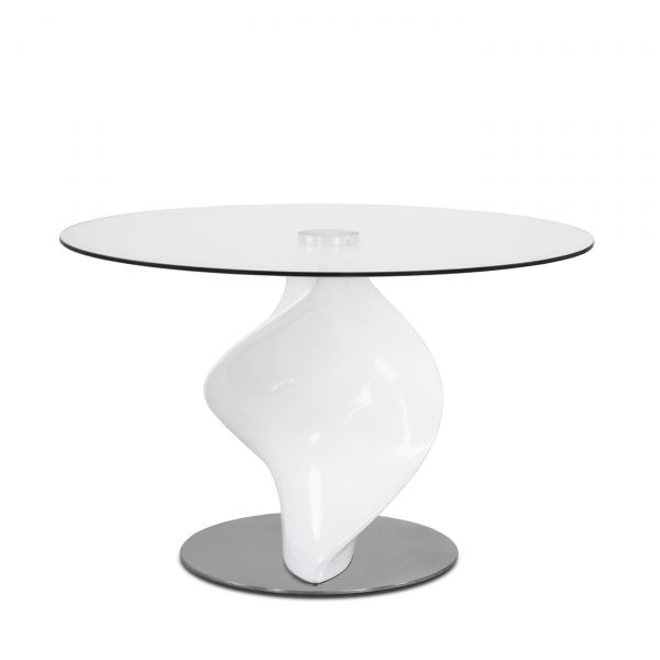 Darwin Dining Table in White, Front