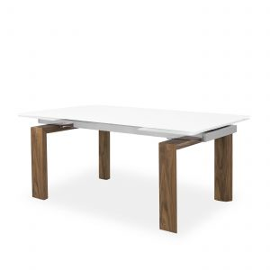 Potrero Dining Table Large in Walnut, Angle