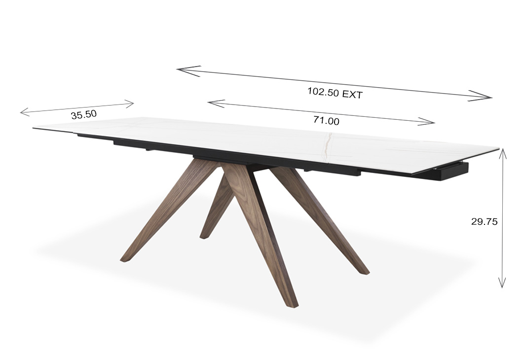 Alamo Dining Table Dimensions
