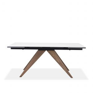 Simon Dining Table in White, Front
