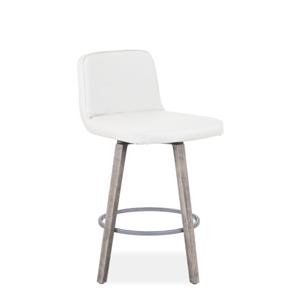 Visconti Swivel Stool and Parchment Wood, Angle 2