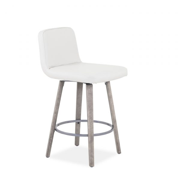 Visconti Swivel Stool and Parchment Wood, Angle