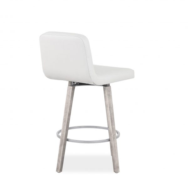 Visconti Swivel Stool and Parchment Wood, Back