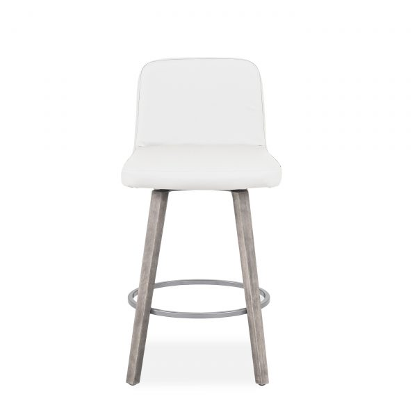 Visconti Swivel Stool and Parchment Wood, Front