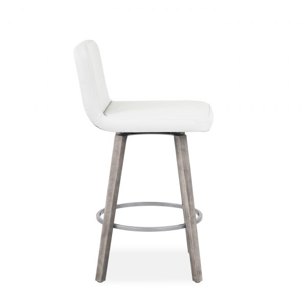 Visconti Swivel Stool and Parchment Wood, Side