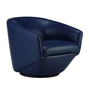 Geneva Chair in Midnight Blue, Angle