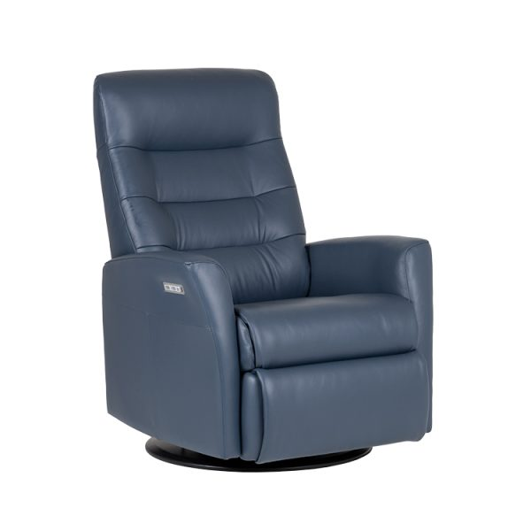 Queen Recliner in Midnight, Angle